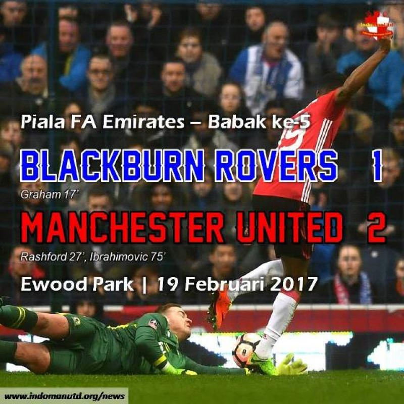 Review - Piala FA: Blackburn Rovers 1-2 Manchester United